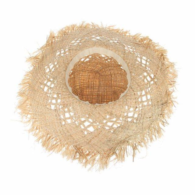 Boho-Chic Straw Hat with Large Brims Boho Jewelry & Accessories Hats