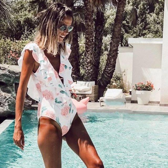 Boho Style Push Up One Piece Swimsuit Bohemian Swimsuits & Bikinis