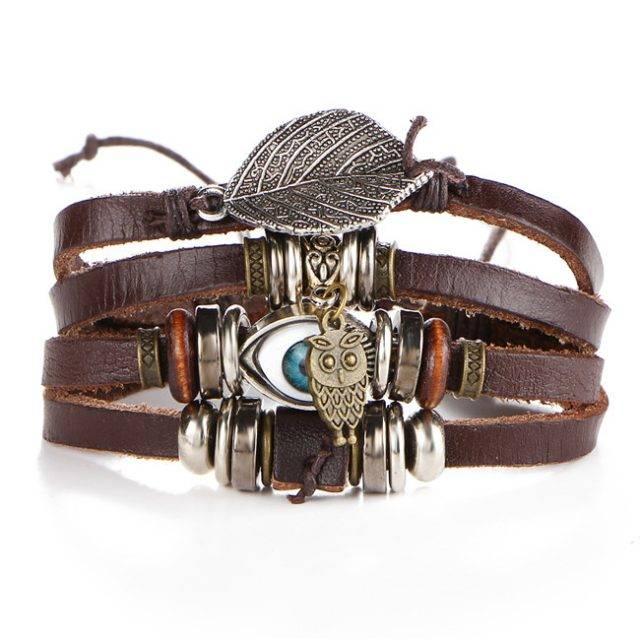 Boho Wrap Charm Bracelet