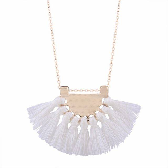 Boho Style Long Tassel Necklace Boho Jewelry & Accessories Necklaces