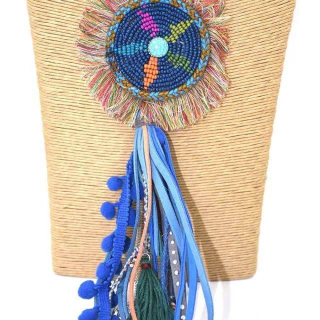 Beads & Leather Tassel Long Fringe Necklace Boho Jewelry & Accessories Necklaces