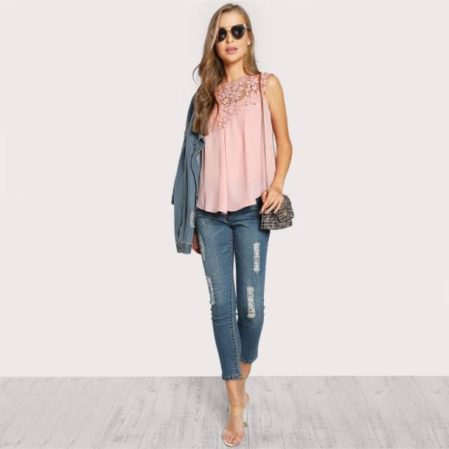 Bohemian Pink Lace Top