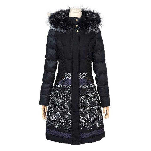 Casual Women's Fur Parka Jacket with Hood