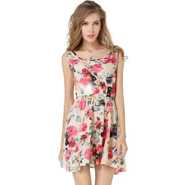 Floral Boho Summer Dress