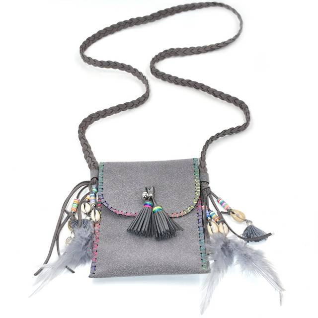 Feather Tassel Small Bohemian Bag Bags & Purses Boho Jewelry & Accessories