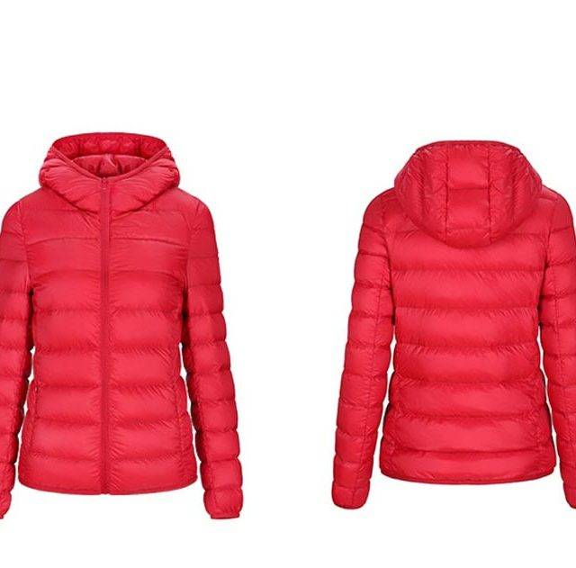 Lightweight Women's Packable Down Jacket with Hood Boho Tops Cardigans, Coats & Jackets