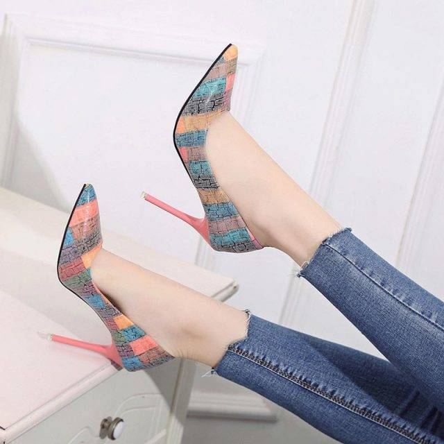 Multi-Color Classic Pointed Toe Pumps Boho Shoes & Sandals
