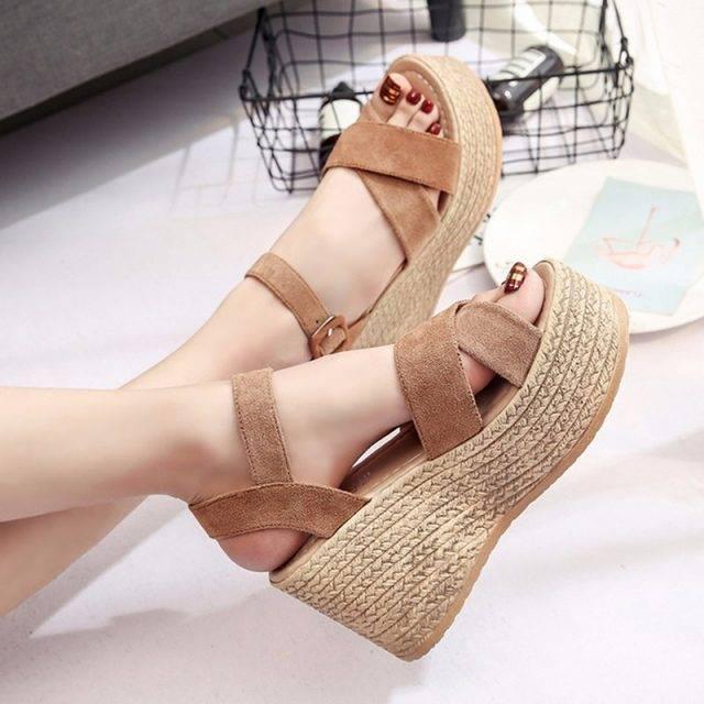 Summer Platform Women's Sandals Boho Shoes & Sandals Color: Brown Size: 4|5|6|7|8|9