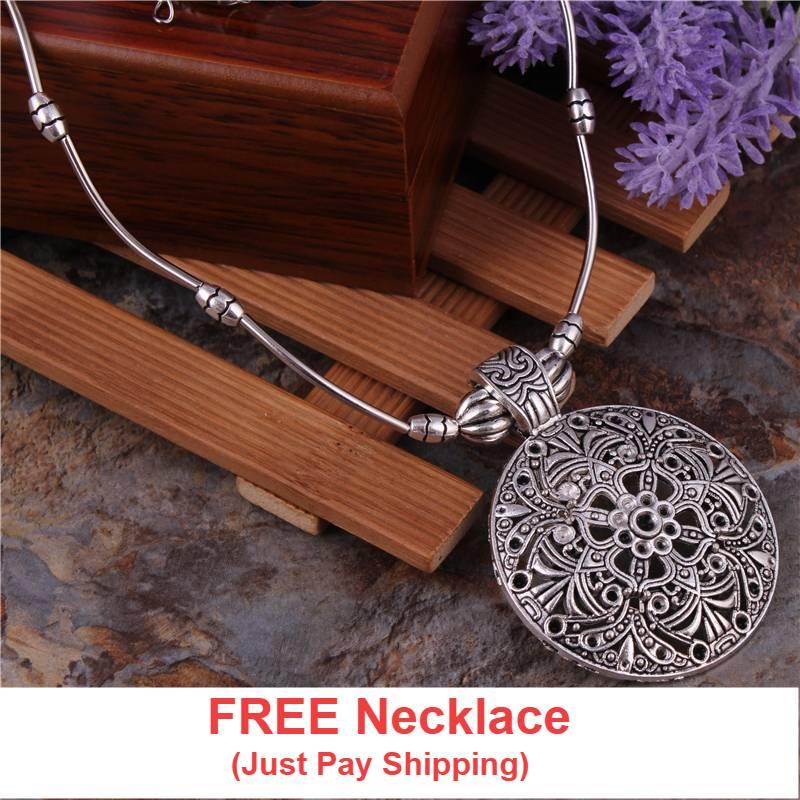 Tibetan pendant necklace boho fashion boutique aloadofball Images