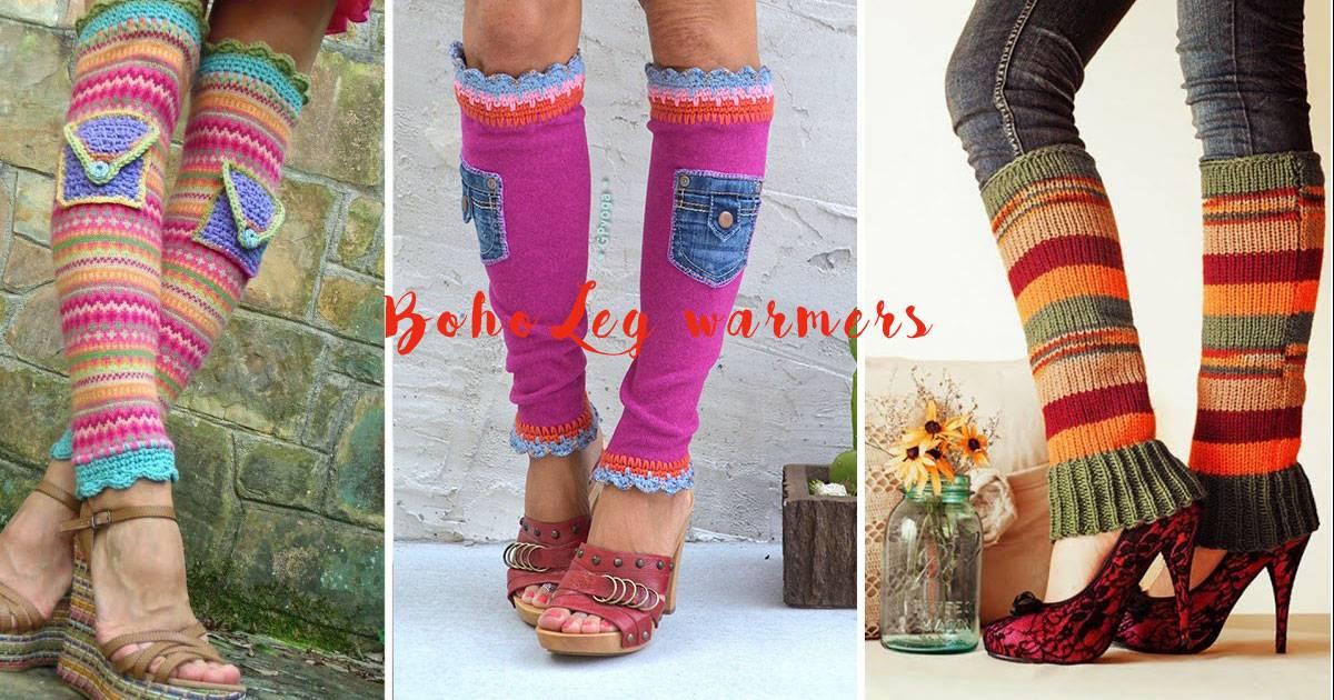 Cute Bohemian Style Leg Warmers for Women