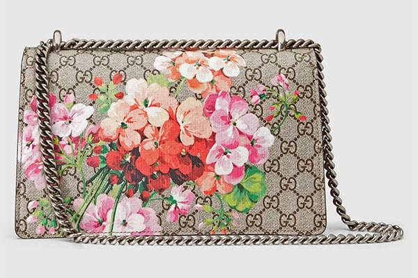 Dionysus small GG Blooms shoulder bag, bohemian fashion styles