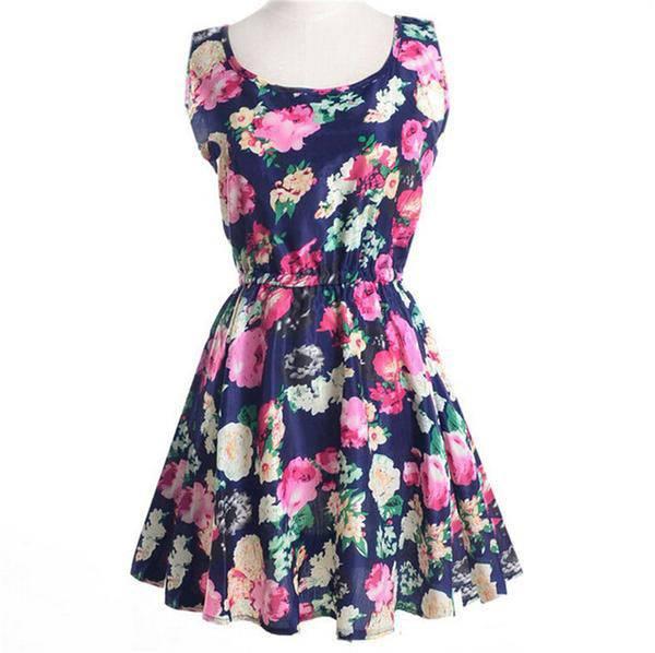 Floral Boho Summer Dress Boho Dresses Boho mini dresses Floral Dresses Skater Dresses