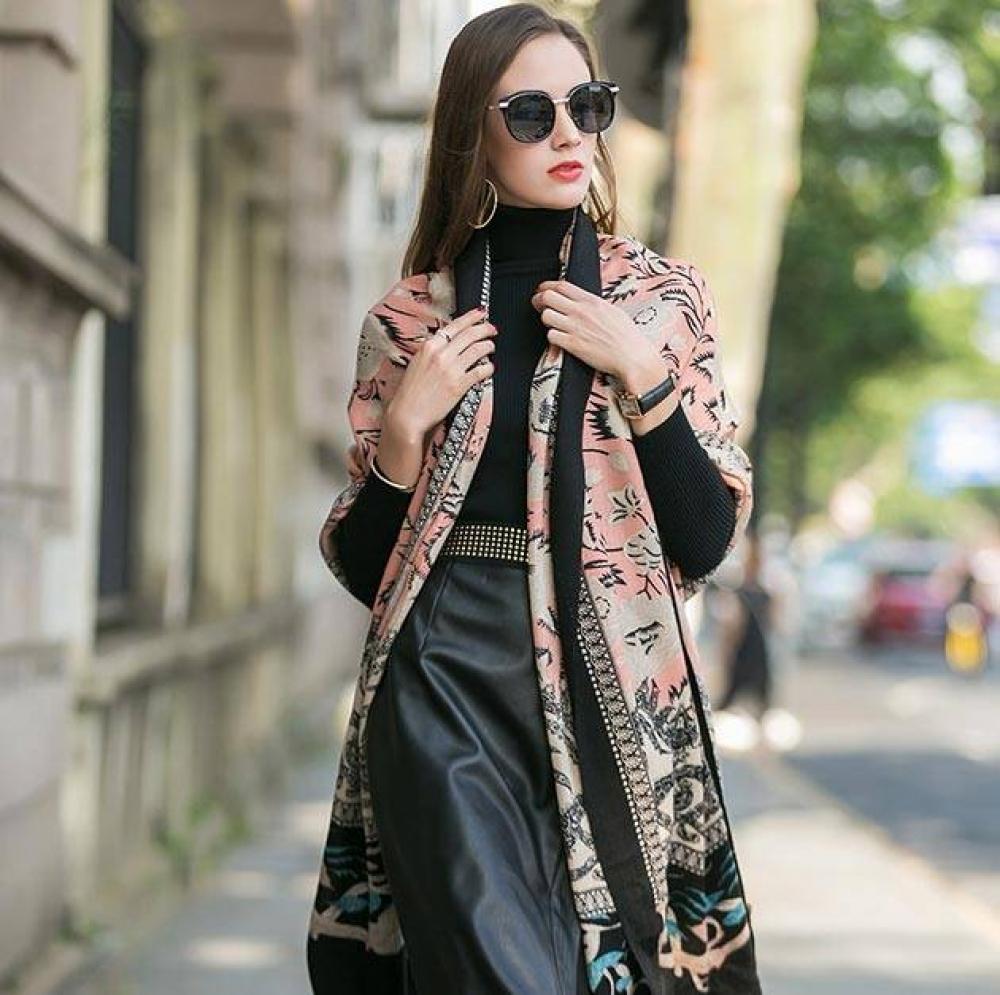 Plaid Pashmina Boho Shawl Boho Tops Kimonos, Scarves & Shawls Color : As picture