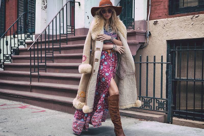 Boho Style, Boho-chic Floral Print, Tassel Tied Maxi Skirt Skirts Boho bottoms Size : S|M|L