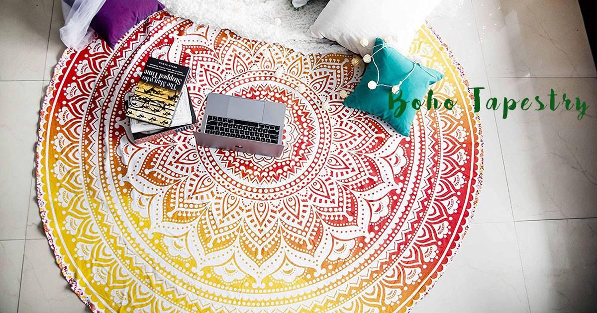 Vibrant Boho Style Tapestry