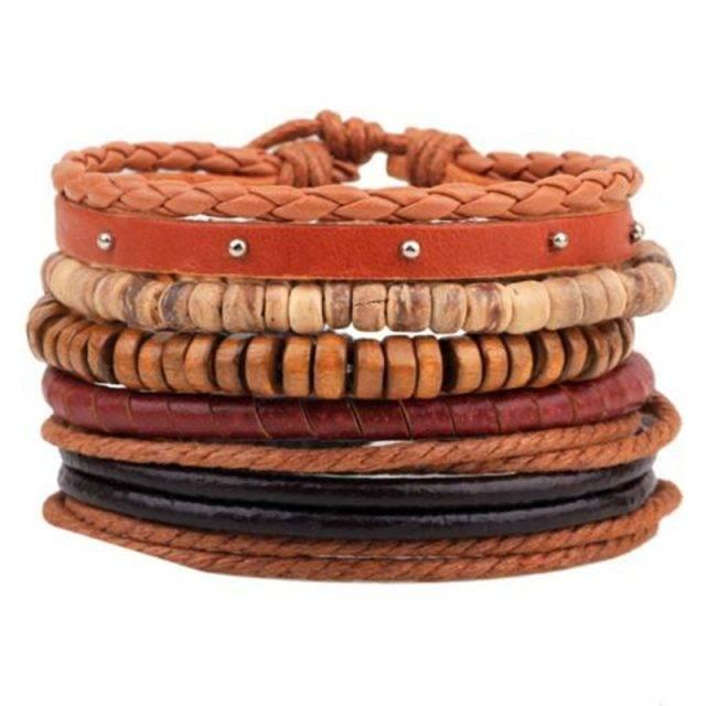 Vintage Boho Multi Strand Leather Bracelet with Beads Bracelets Boho Jewelry & Accessories Metal Color : 1|2|3|5|4|6|8|9|10|11|13|14|15|16|17|18