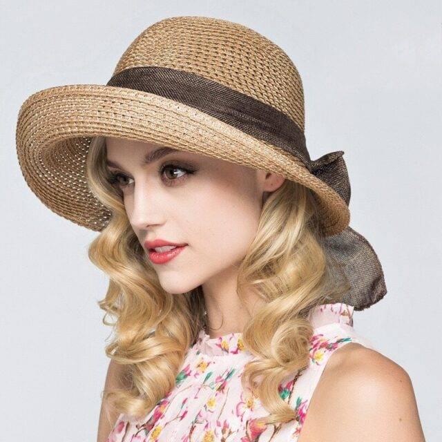Women's Beach Hat With Brim Hats Boho Jewelry & Accessories Color : Khaki|Purple|Blue|Brown|Beige|pink